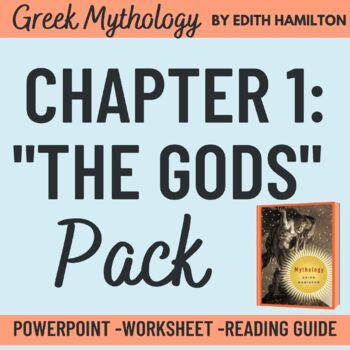 "Edith Hamilton's Mythology ""The Lesser Gods of Olympus"" PowerPoint"