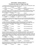 Edith Hamilton's Mythology Ch 13 Mult Choice Test (50q) & KEY