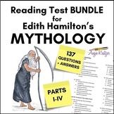 Edith Hamilton's Mythology Reading Test BUNDLE