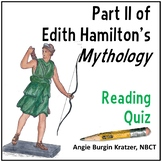 Edith Hamilton's Mythology Reading Test: Part II