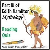 Edith Hamilton's Mythology Reading Test: Part III