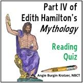 Edith Hamilton's Mythology Reading Test: Part IV