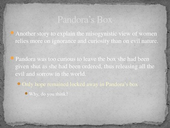 Edith Hamiltons's Mythology Part I Chapter 3 PowerPoint