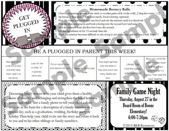 Editable Template - Parent Weekly News