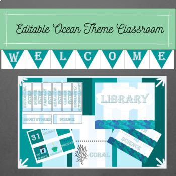 Editible Ocean Theme Classroom