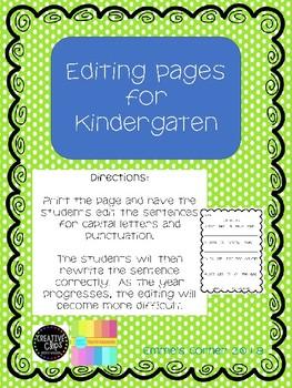 Editing #1 Kindergarten Bundle