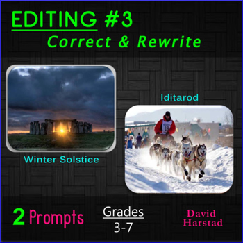 Editing #3: Winter Solstice & Iditarod Printable Prompts (