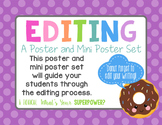 Editing: A Poster and Mini Poster Set