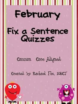 Editing A Sentence (Sentence editing) - February