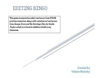 Editing Bingo