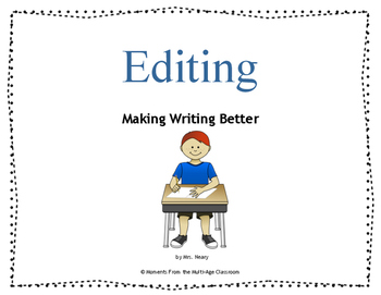 Editing Booklet