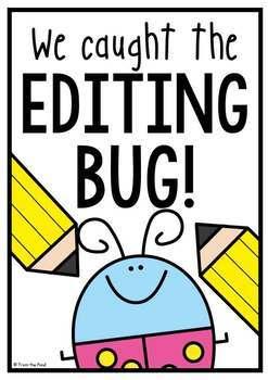 Editing Bug Printable Pack {Self Check Editing Checklist for Writing}