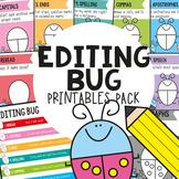 Editing Bug Printable Pack {Self Check Editing Checklist f