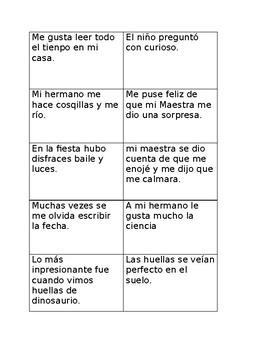 Editing Cards (Spanish)