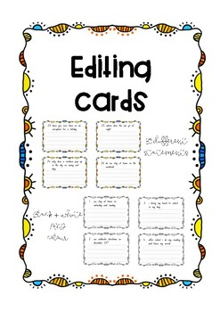 Editing Cards - punctuation