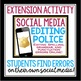 GRAMMAR ACTIVITY EDITING CELEBRITY SOCIAL MEDIA