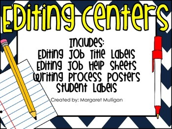 Editing Centers and Writing Process Posters
