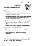 Editing Checklist, Writing Checklist, Peer Editing Checklist, Writing Station