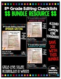 Editing Checklist- 5th Grade Bundle: Narrative, Informative, Opinion