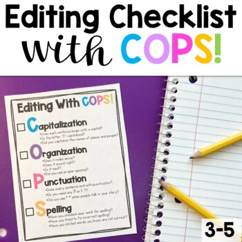 Editing Checklist- COPS