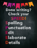 Editing Checklist - Check Your SPEED