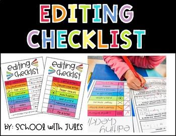 Editing Checklist Freebie