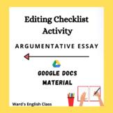 Editing Checklist Google Doc