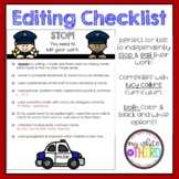 Editing Checklist--Lucy Calkins Aligned