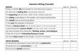 Editing Checklist- Narrative Writing