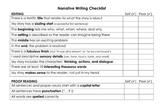 Editing Checklist- Narrative Writing