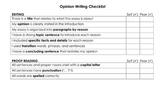 Editing Checklist- Opinion Writing