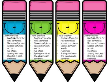 Editing Checklist Pencils