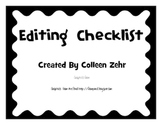 Editing Checklist Posters with Squiggle Border
