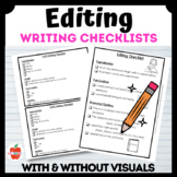 Editing Checklist -- Writing Laminate or Tape into journals!