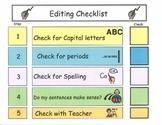 Editing Checklist for Elementary or Special Education students