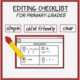 Editing Checklist for Primary Grades