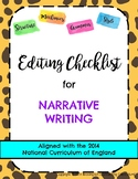 Editing Checklist for Narrative Writing