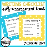 Self-Assessment Writing Checklist (7 Colors and 3 Sizes!)