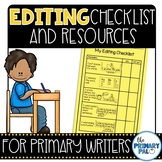 Editing Checklist for Writing Workshop: Primary Grades