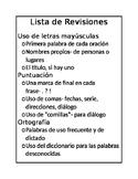 Editing Checklist in Spanish