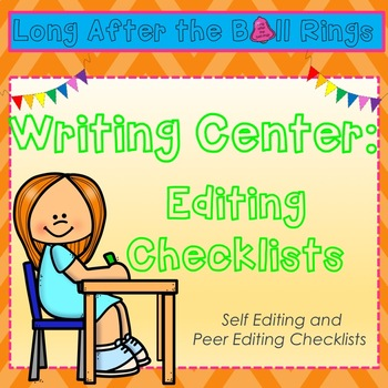 Editing Checklist- (personal and partner)