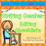 Writing Center: Editing Checklist- (personal and partner)