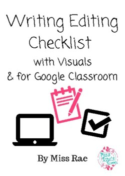 Writing Editing Checklist with Visuals!
