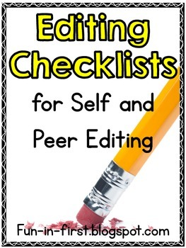 Editing Checklists for Self and Peer Editing