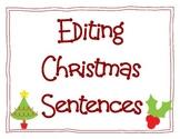 Editing Christmas Sentences