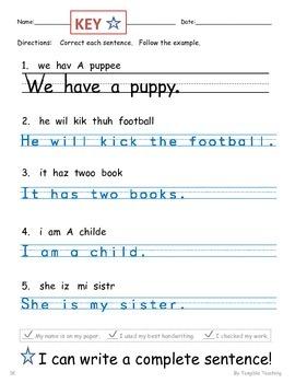 Editing Complete Sentences