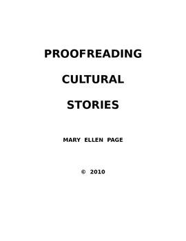 Editing Cultural Readings