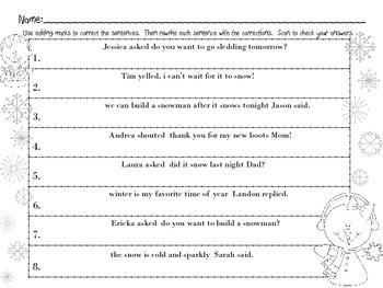 Editing Dialogue Task Cards