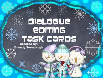 Editing Dialogue Task Cards