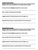 Editing Dialogue Worksheet